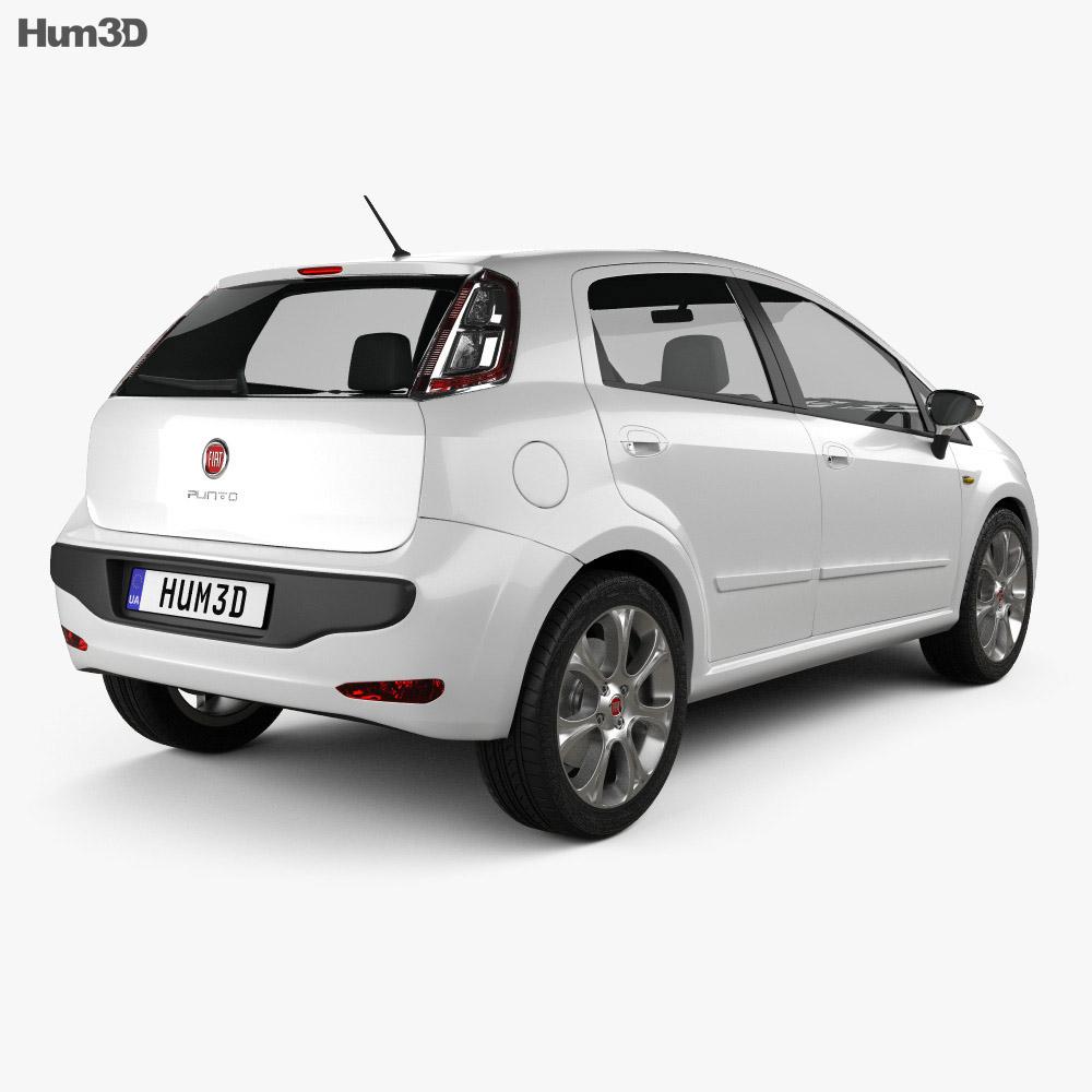 Fiat Punto Evo 5-door 2010 3d model
