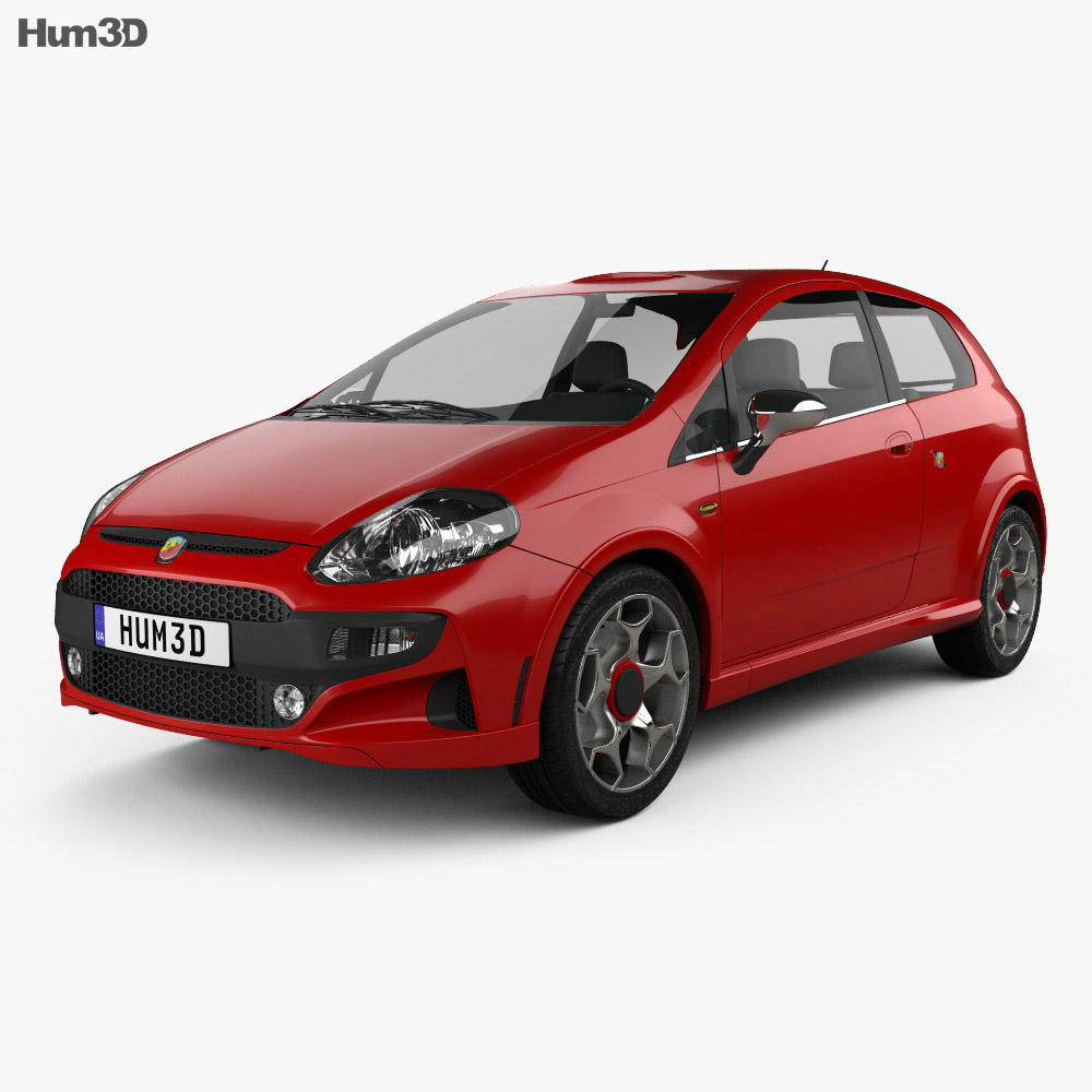 Fiat Punto Evo Abarth 2011 3d model