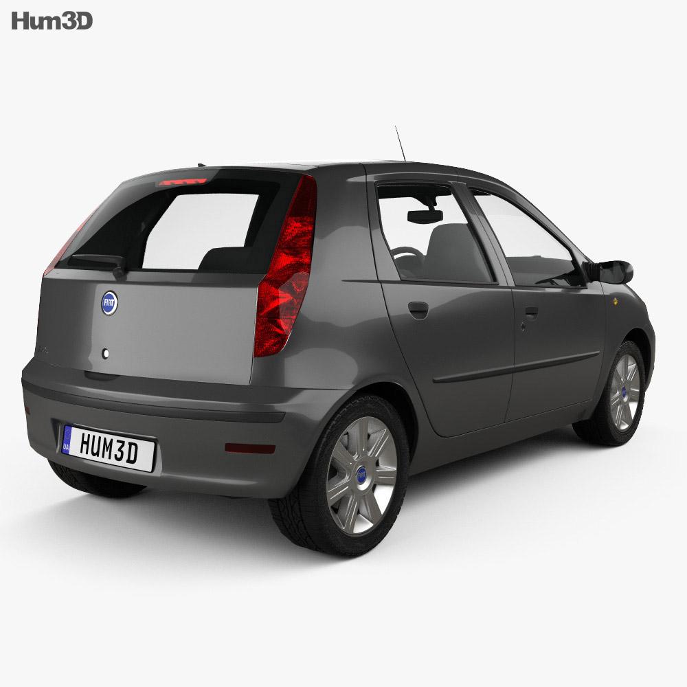 Fiat Punto 5-door 2003 3d model