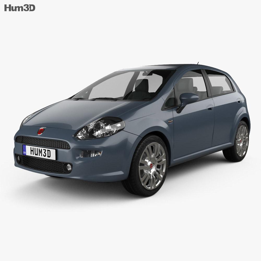 Fiat Punto 5-door 2012 3d model