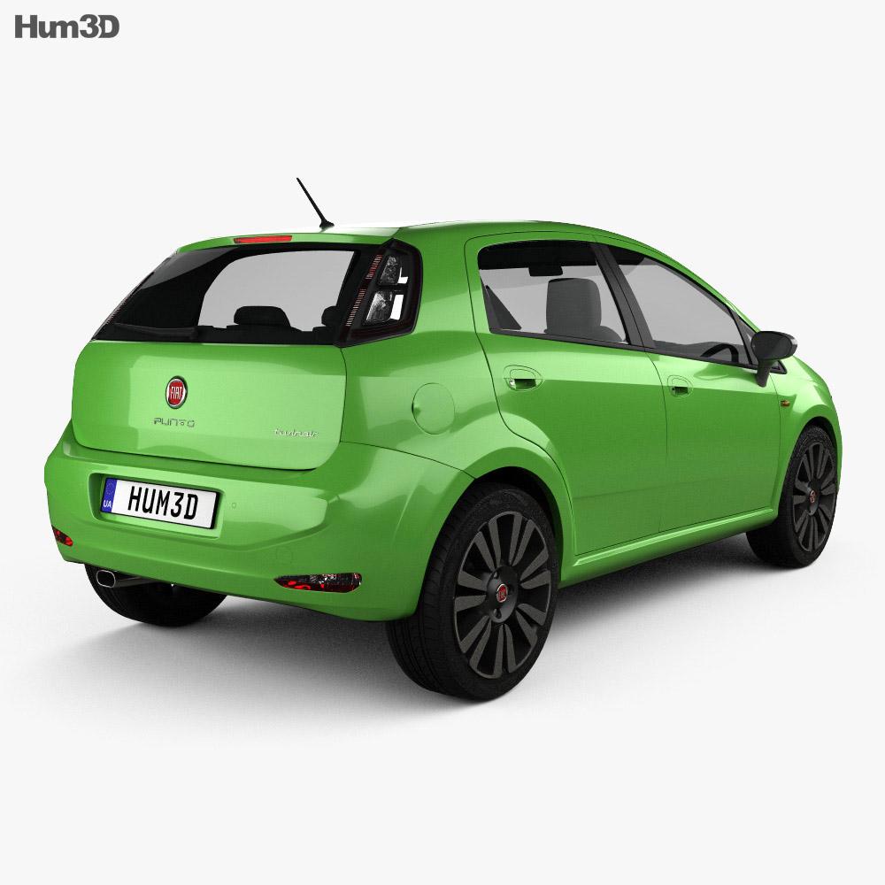 Fiat Punto TwinAir 5-door 2012 3d model