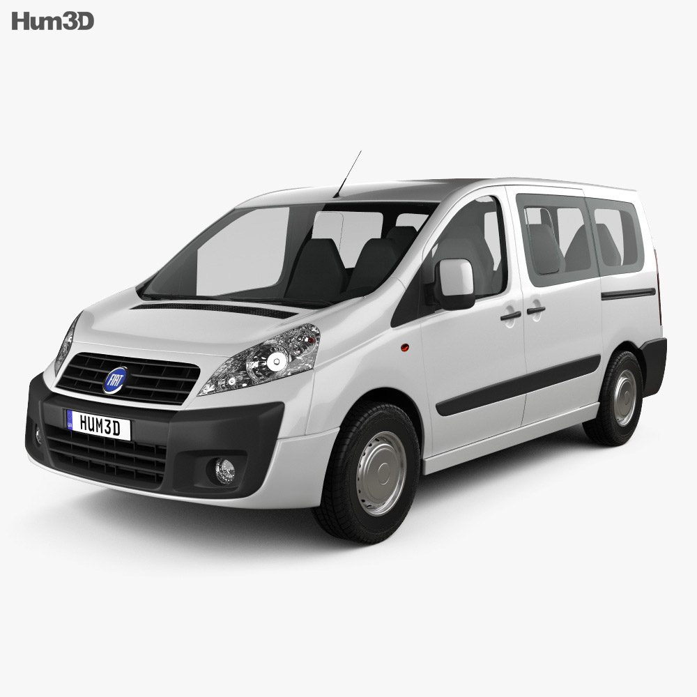 Fiat Scudo Panorama ShortWheelbase 2011 3d model