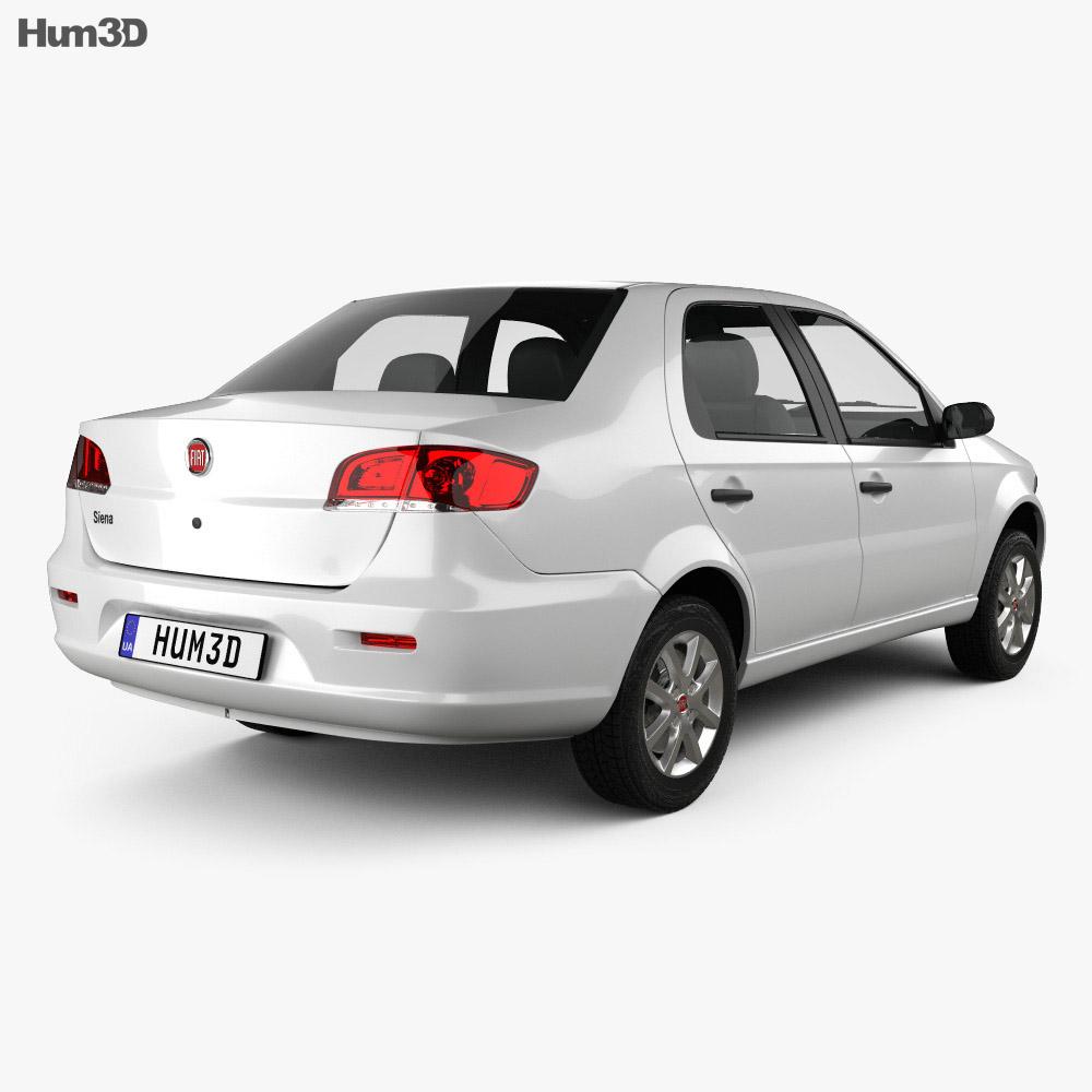 Fiat Siena 2009 Modello 3D vista posteriore