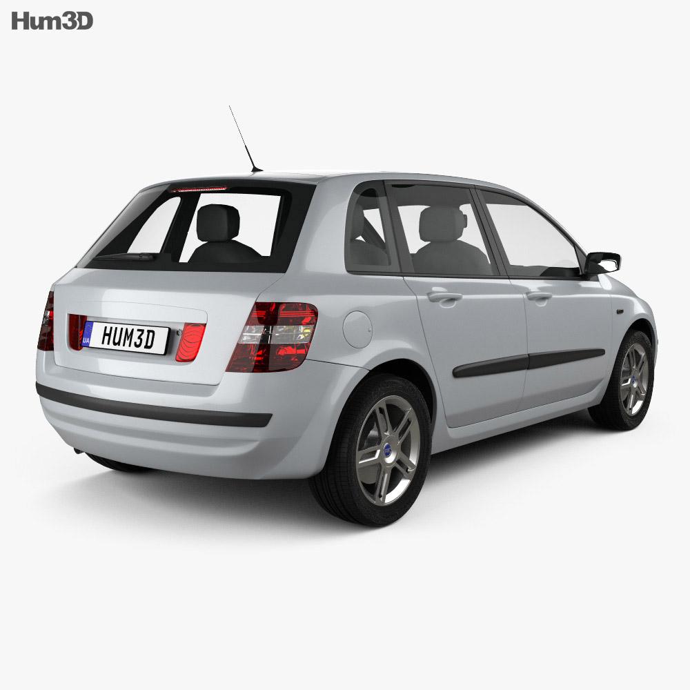 Fiat Stilo 5-door 2001 3d model