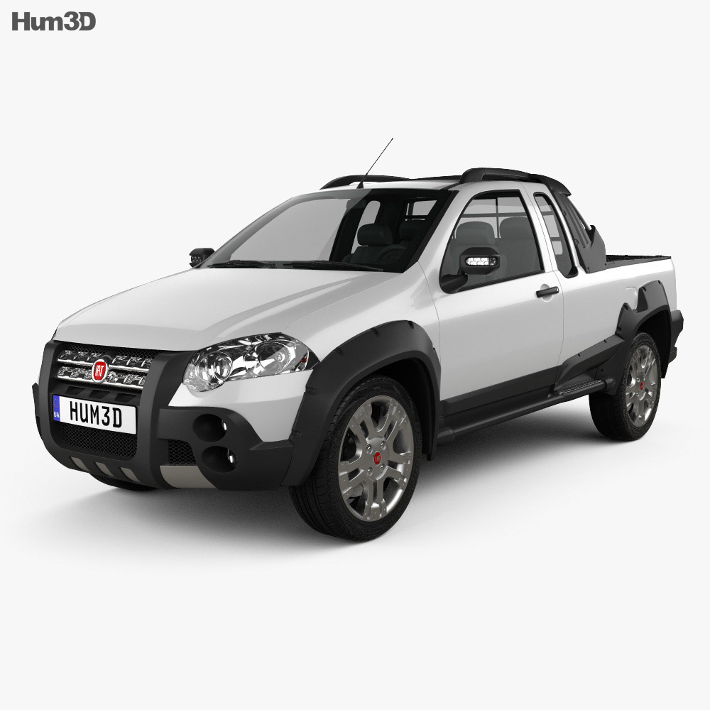 fiat strada crew cab adventure 2012 3d model vehicles on. Black Bedroom Furniture Sets. Home Design Ideas
