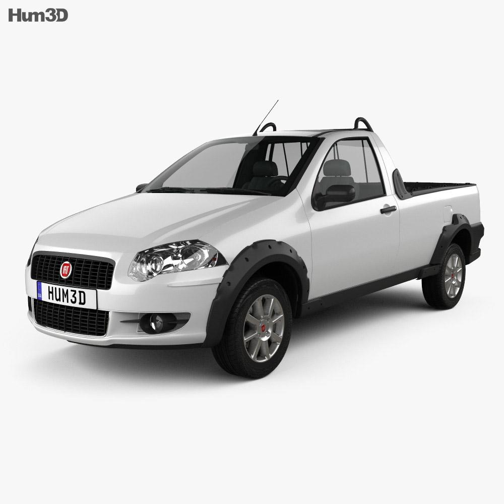 Fiat Strada Short Cab Trekking 2012 3d model