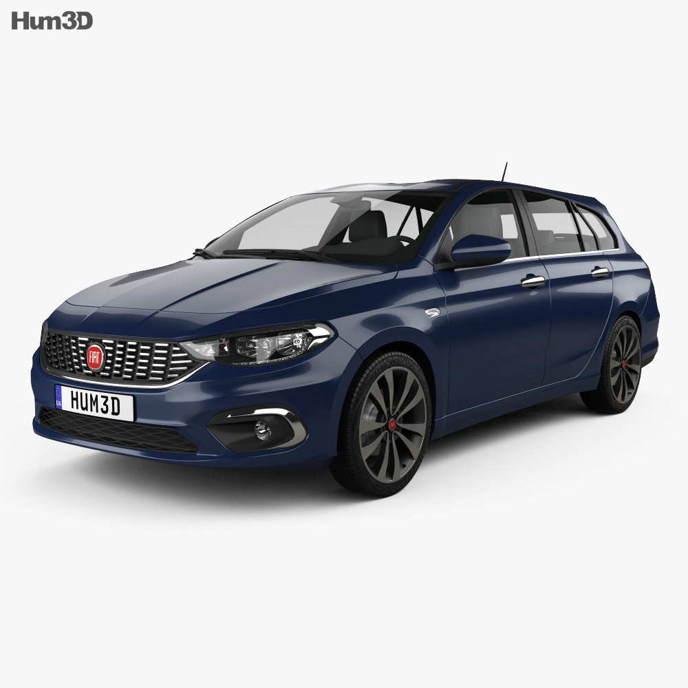 fiat tipo station wagon 2017 3d model hum3d. Black Bedroom Furniture Sets. Home Design Ideas