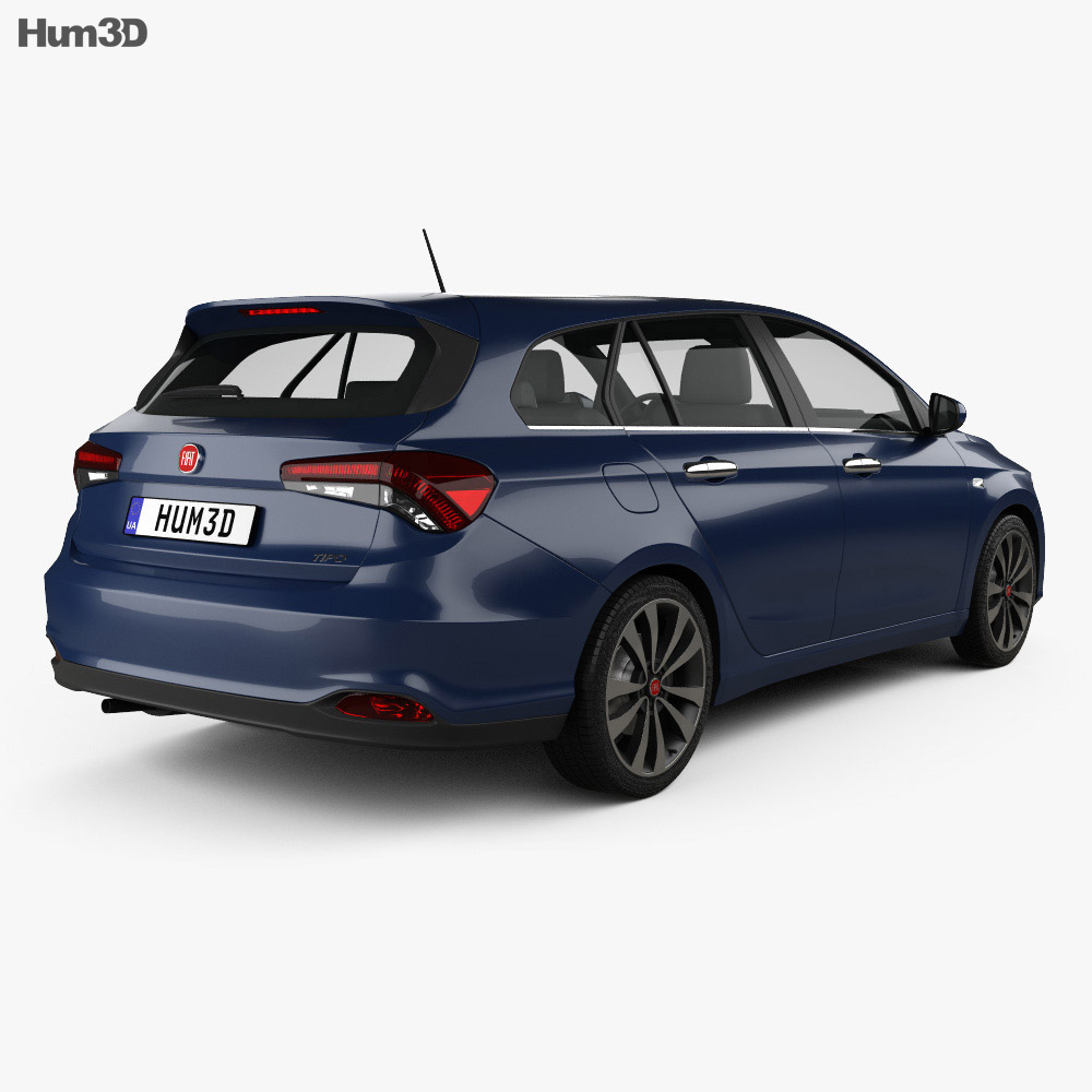 Fiat Tipo Station Wagon 2017 3d model back view
