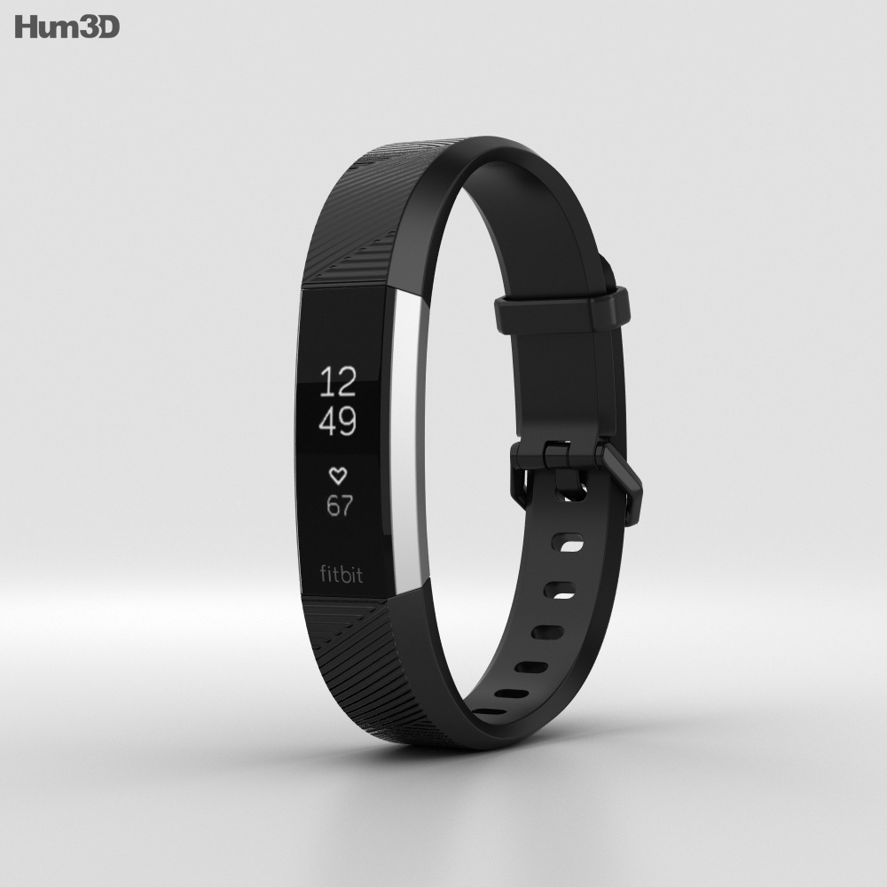Fitbit Alta HR Black Stainless Steel 3d model