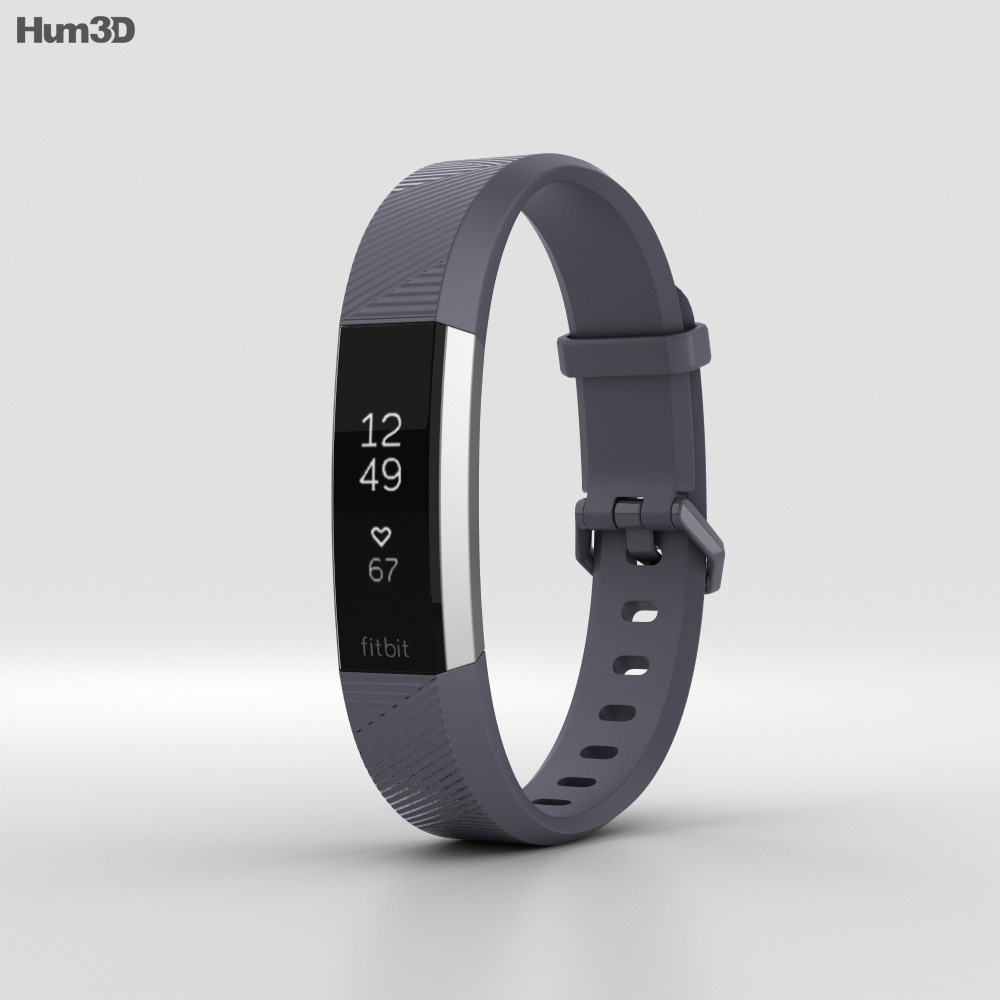 Fitbit Alta HR Blue Gray 3d model