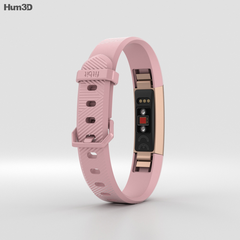 Fitbit Alta HR Soft Pink 3d model