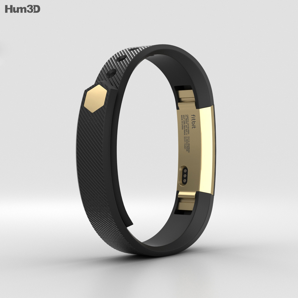 Fitbit Alta Black/Gold 3d model