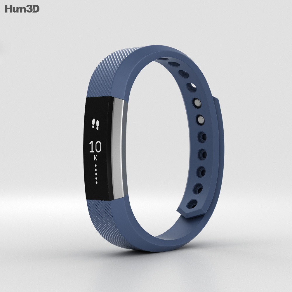 Fitbit Alta Blue/Silver 3d model