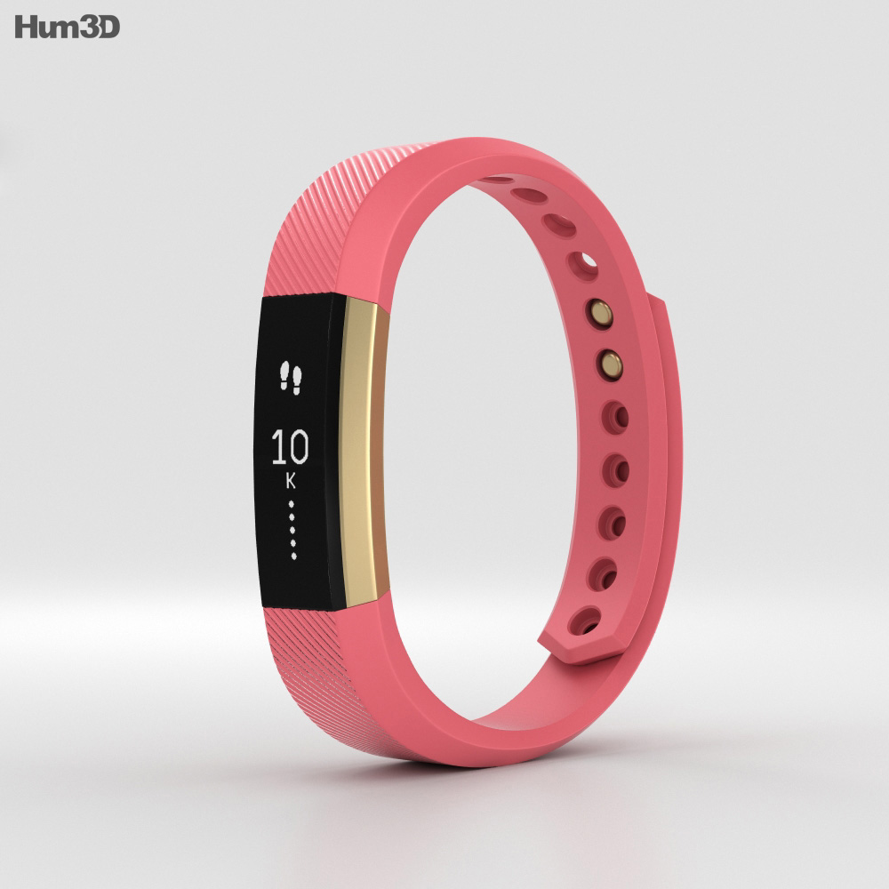 Fitbit Alta Pink/Gold 3d model