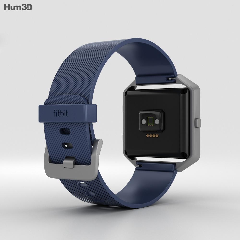 Fitbit Blaze Blue/Silver 3d model