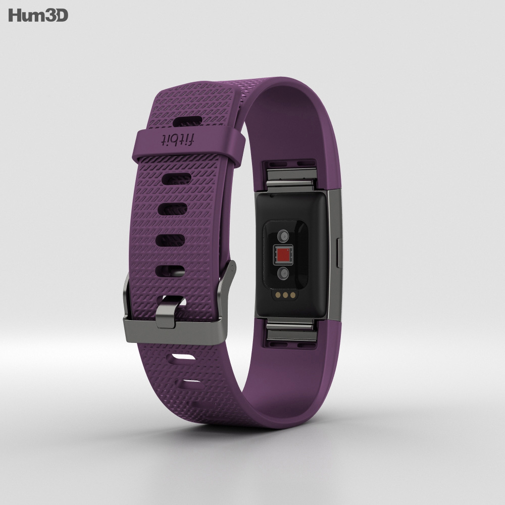 Fitbit Charge 2 Plum 3d model