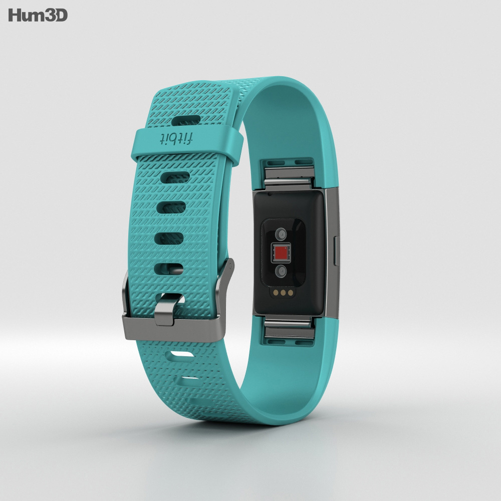 Fitbit Charge 2 Teal 3d model