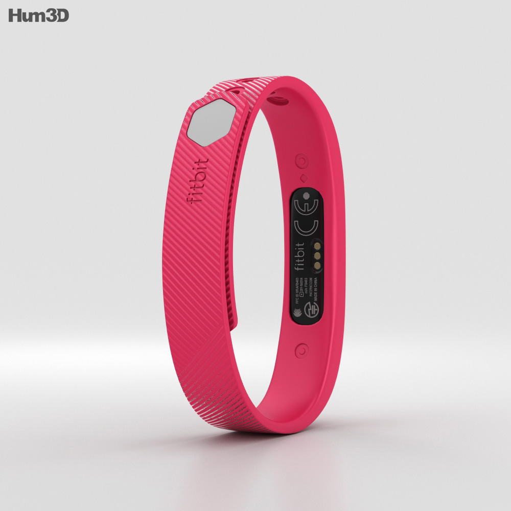 Fitbit Flex 2 Magenta 3d model