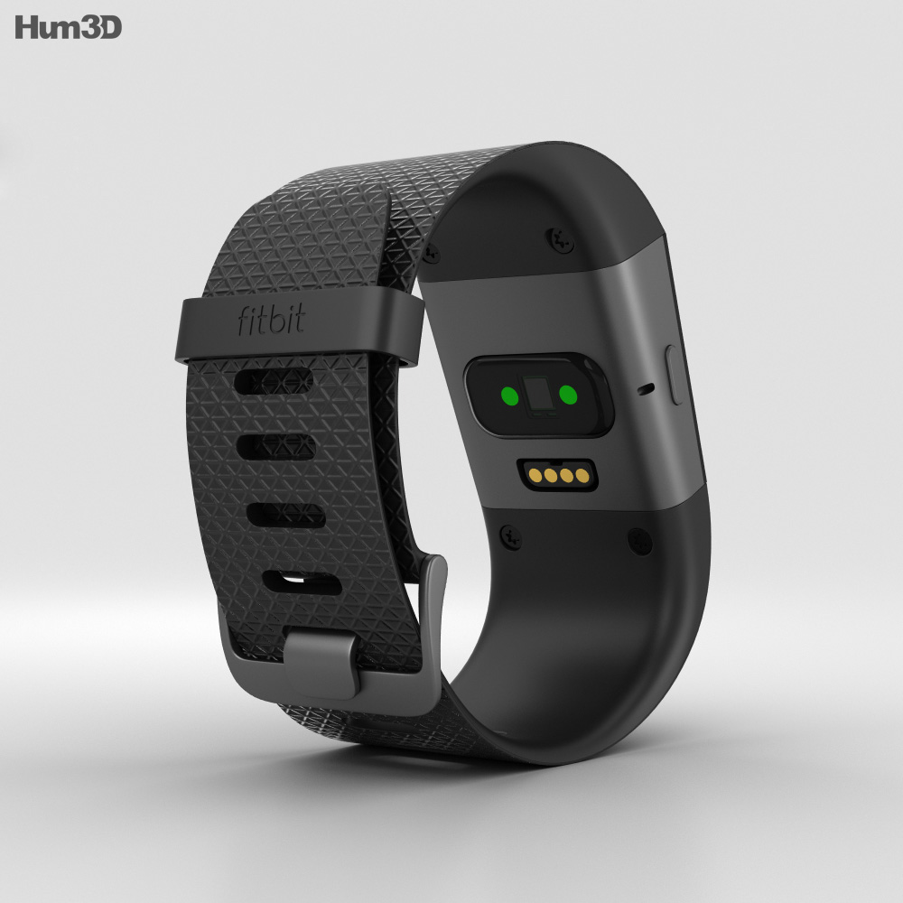 Fitbit Surge Black 3d model