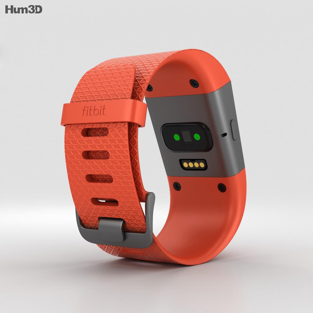 Fitbit Surge Tangerine 3d model