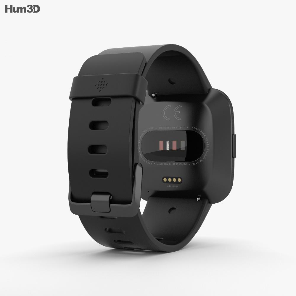 Fitbit Versa Black 3d model
