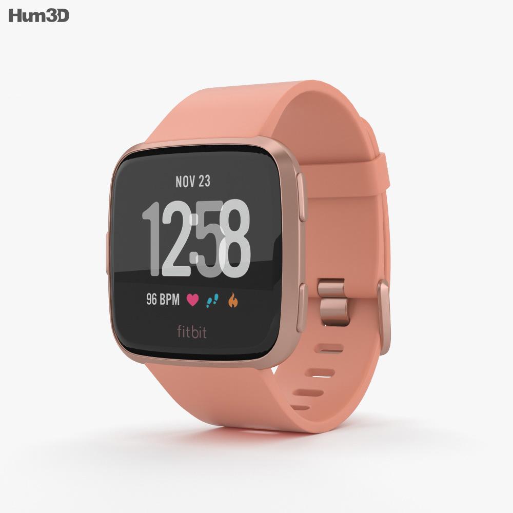 Fitbit Versa Peach 3d model