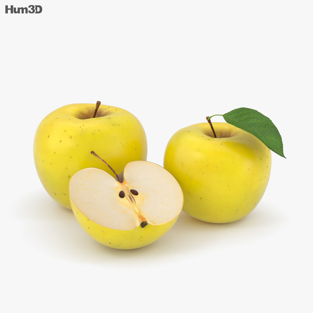 Yellow Apple 3d model