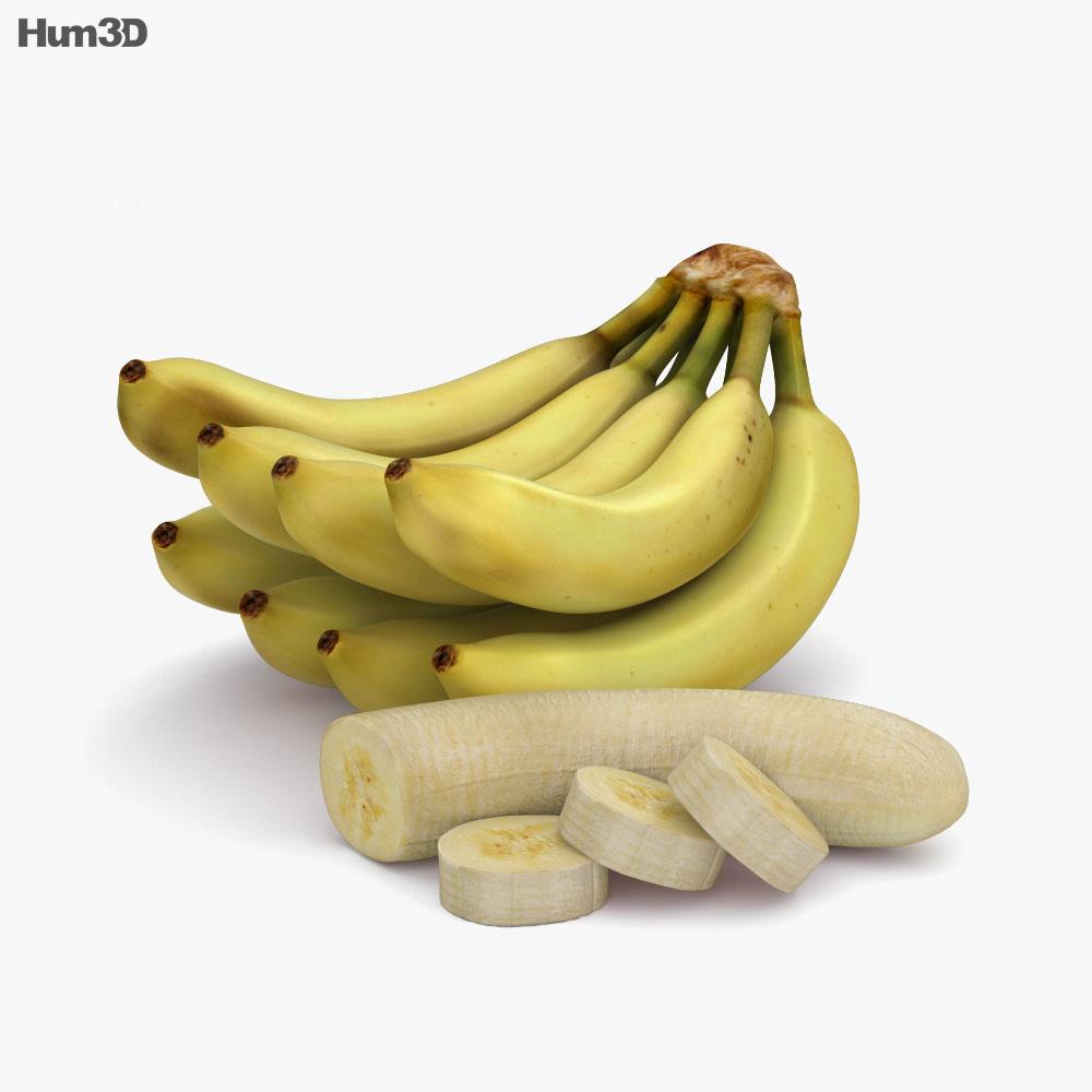Banana Bunch 3d model