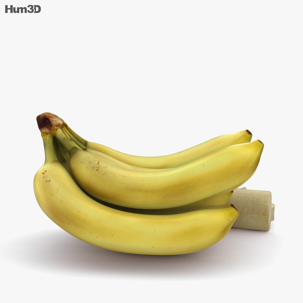 Banana Bunch 3d model