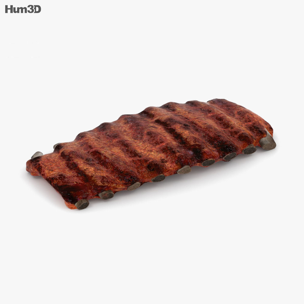 Barbecue Ribs 3d model