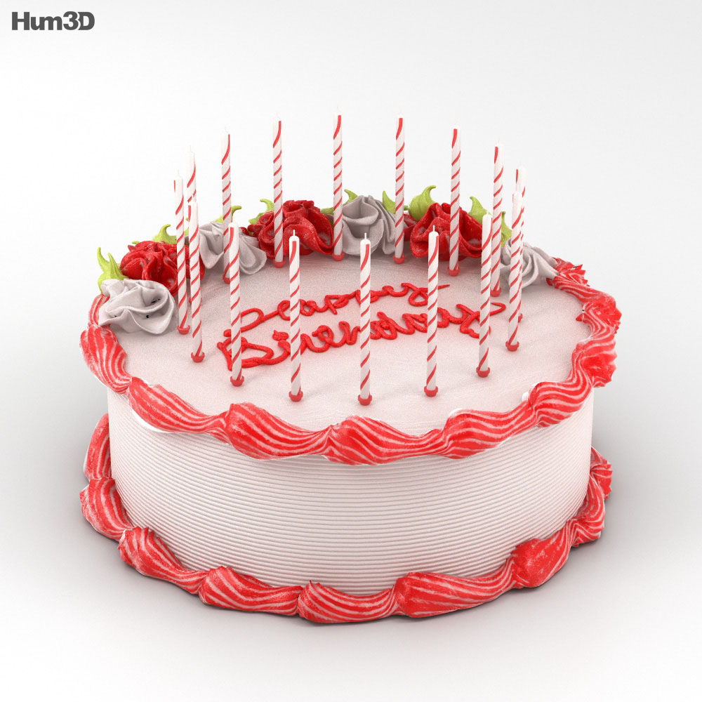 3D model of Birthday Cake