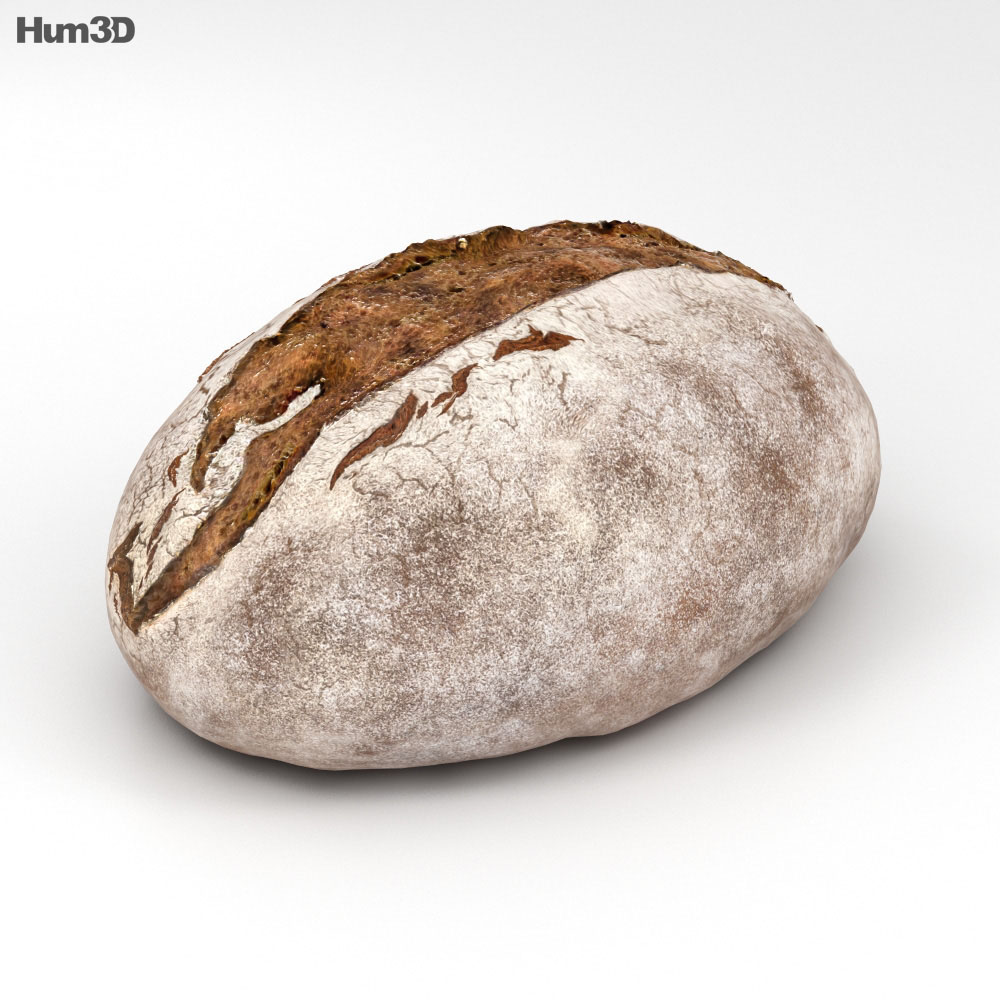Brown Bread 3d model