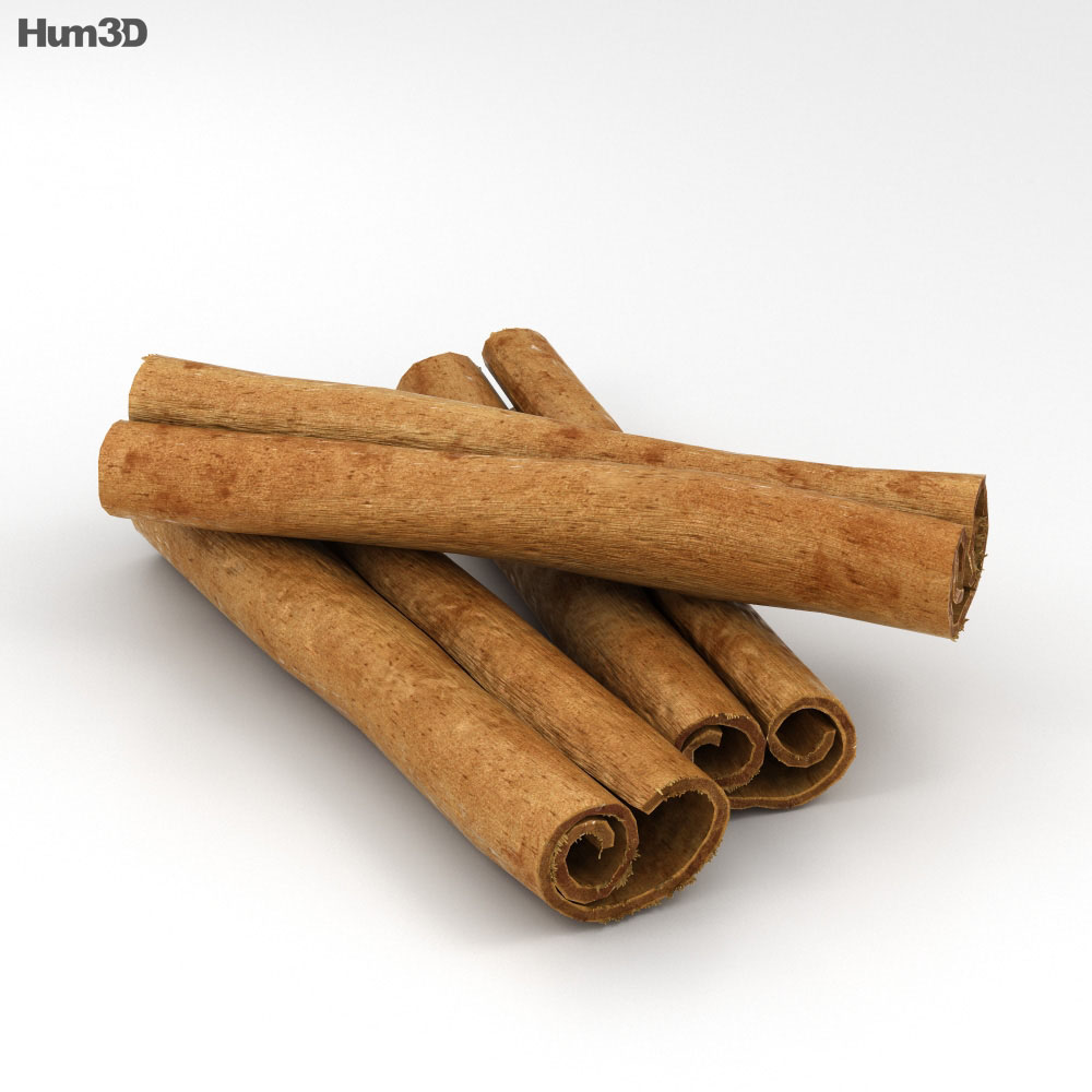 Cinnamon Sticks 3d model