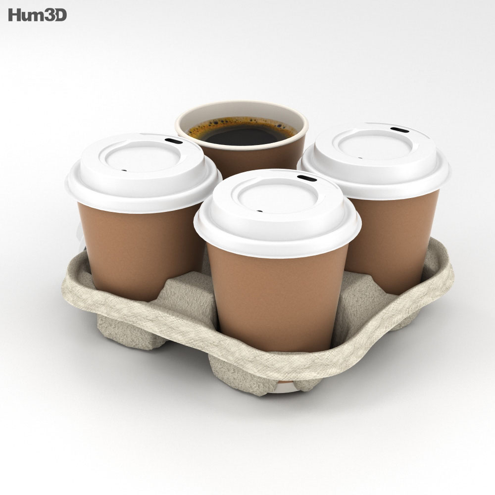 Coffee in Holder 3d model