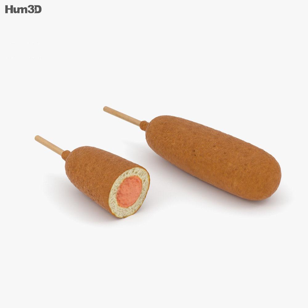 Corn Dog 3d model