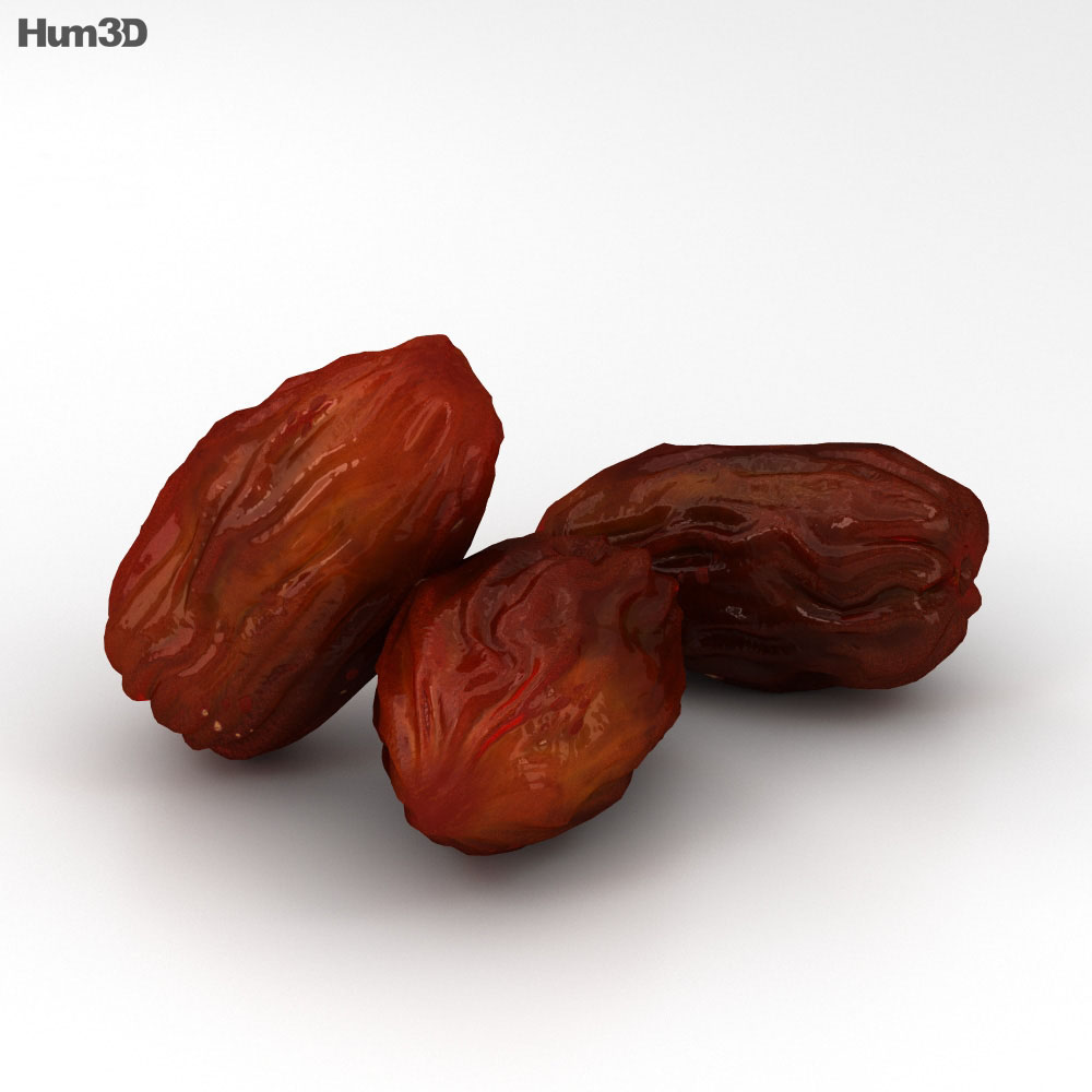 Dried Dates 3d model