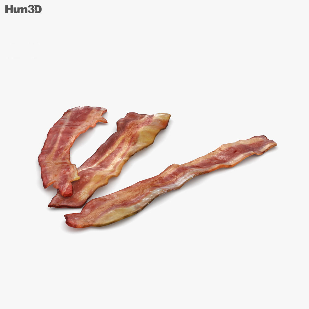 Fried Bacon 3d model