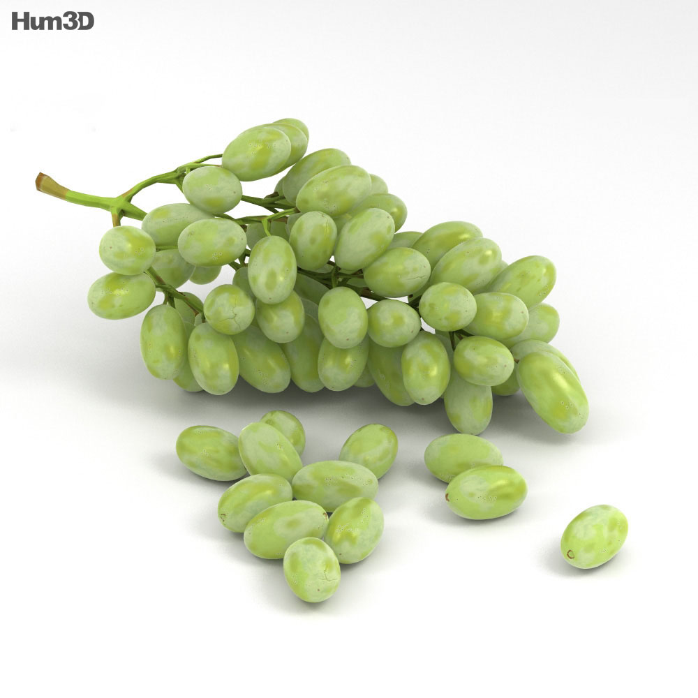 3D model of Green Grapes