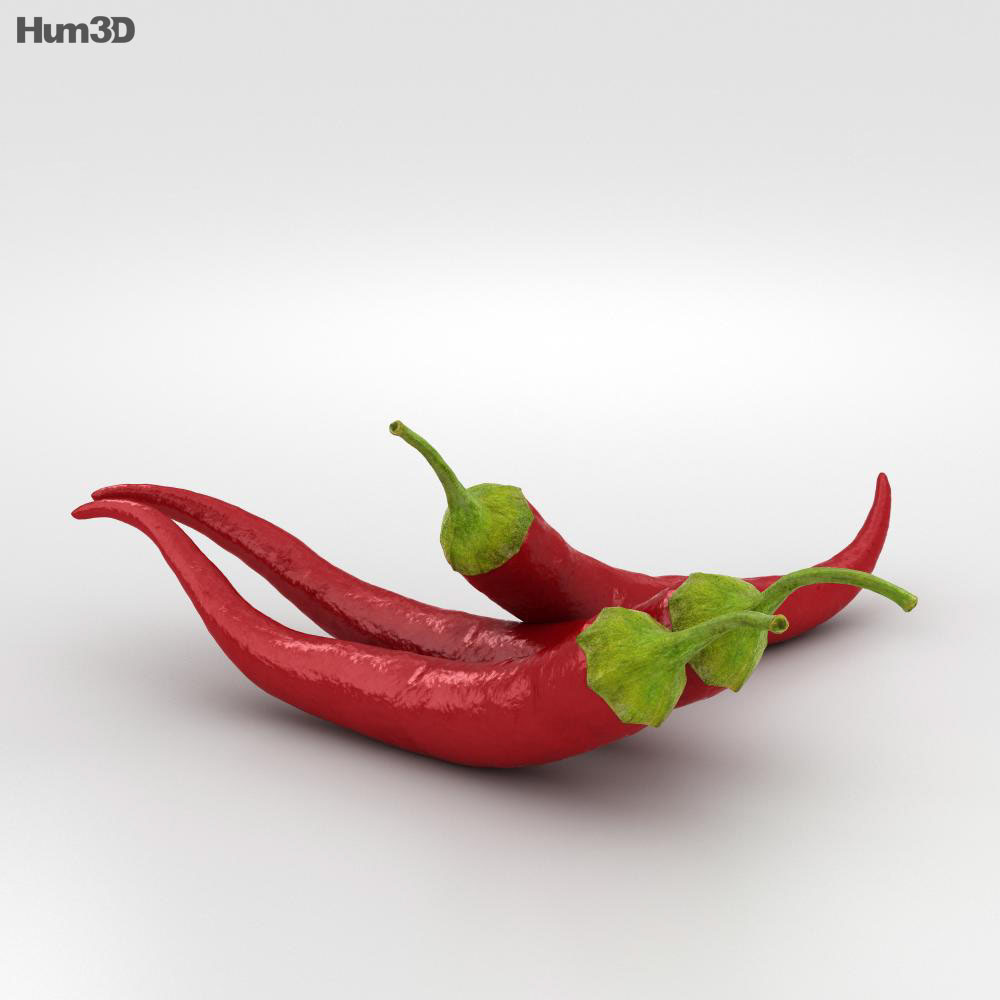 Chili Pepper 3d model