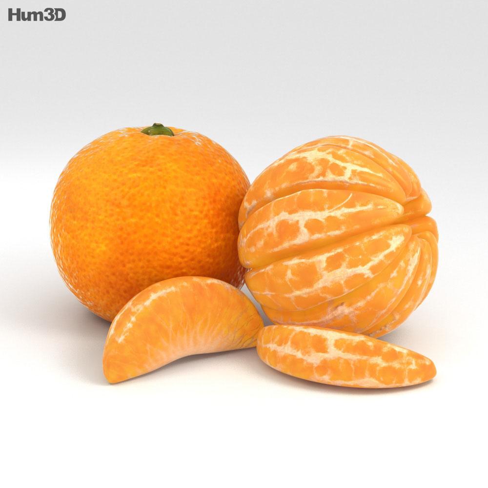 Mandarin Orange 3d model