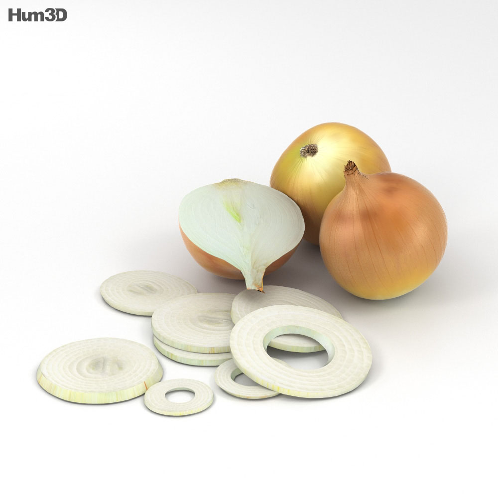 Yellow Onion 3d model