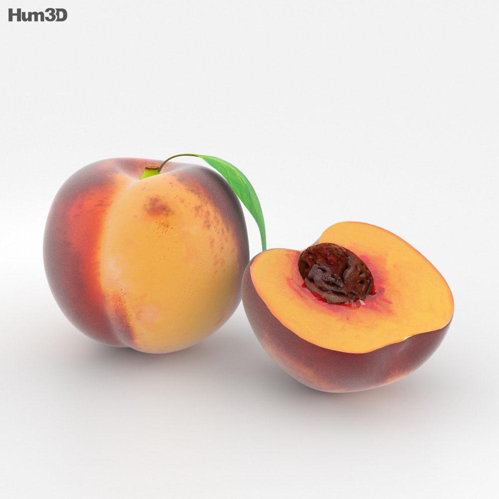 Peach 3d model