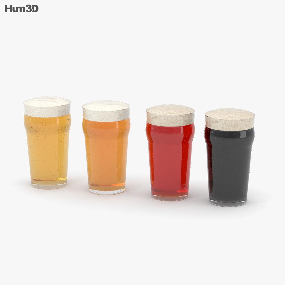 Beer Pint Glass 3d model