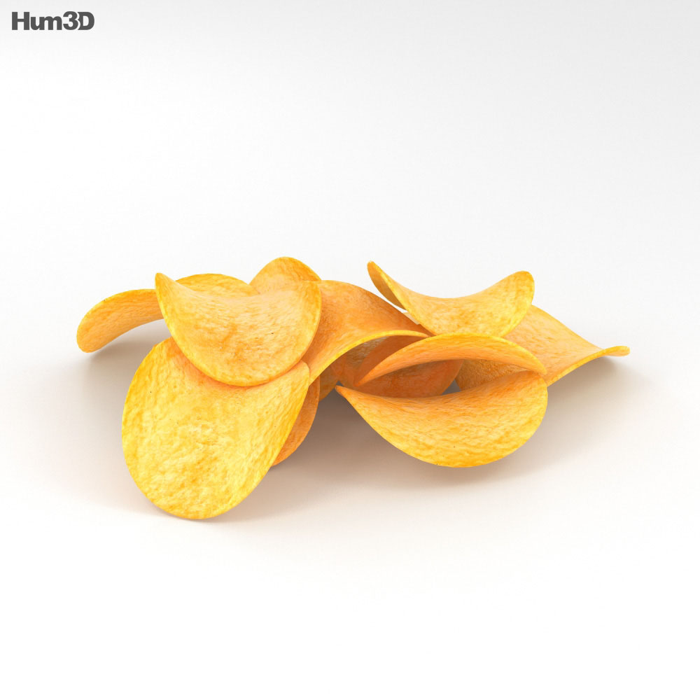 Potato Chips 3d model
