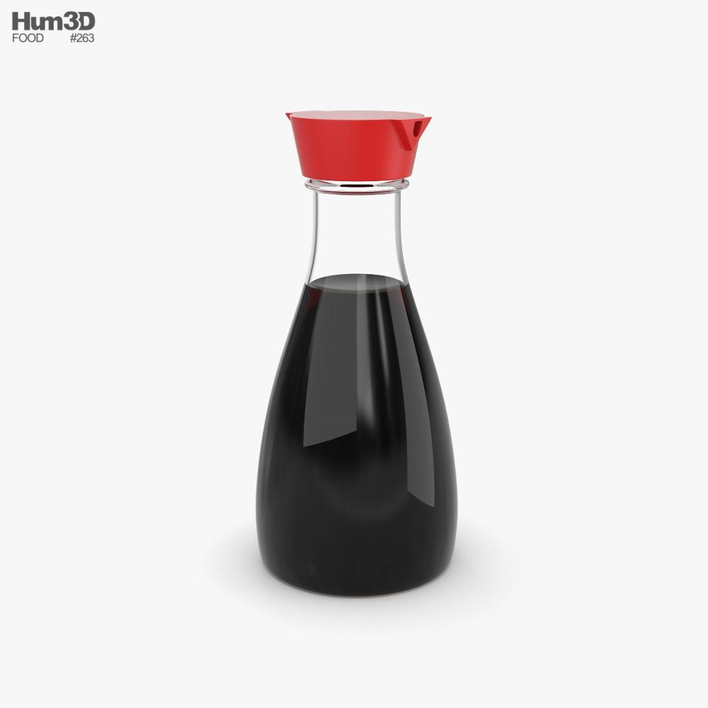 Soy Sauce Bottle 3d model