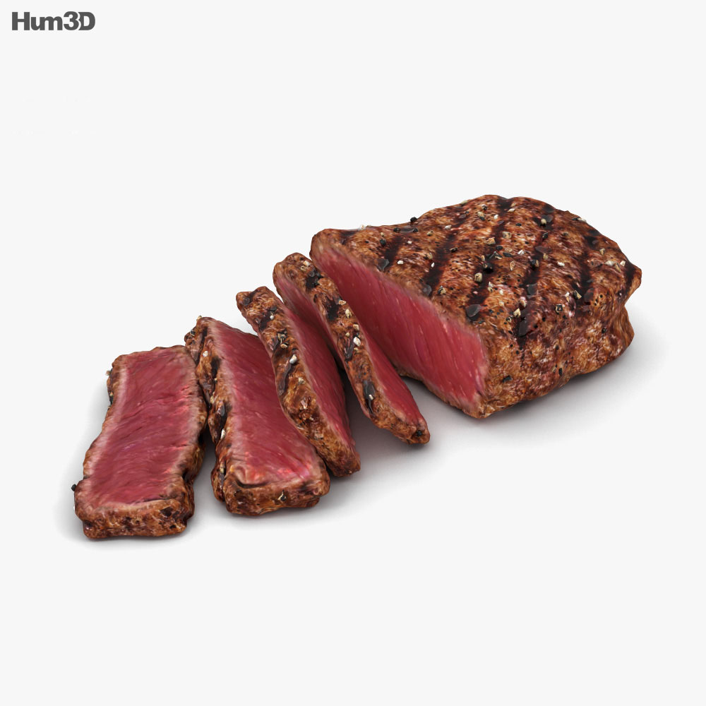 Medium Rare Steak 3d model