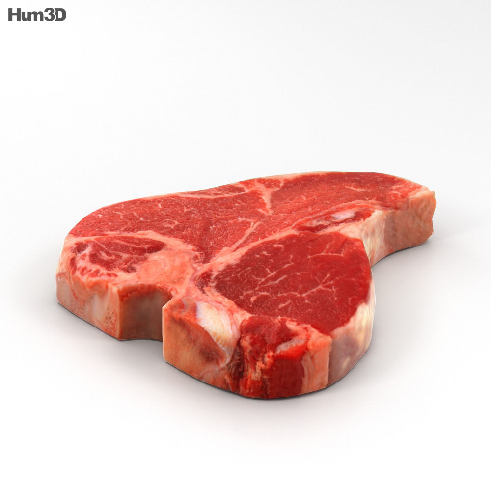 3D model of T-Bone Steak