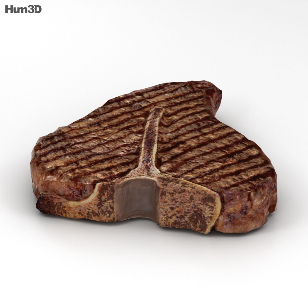 T-Bone Steak Cooked 3d model