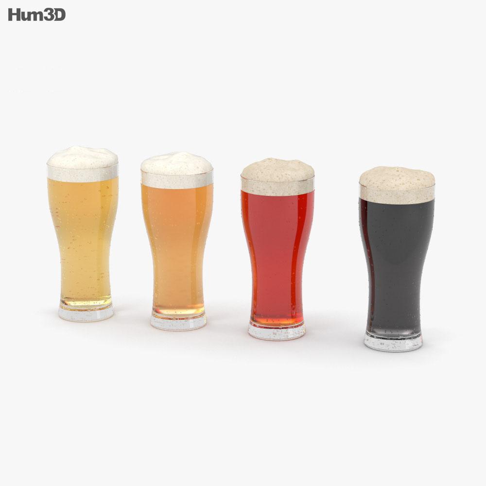 Beer Weizen Glass 3d model