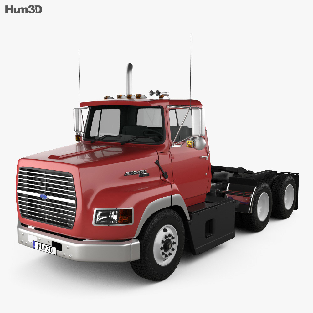 Ford Aeromax L9000 Day Cab Tractor Truck 1990 3d model